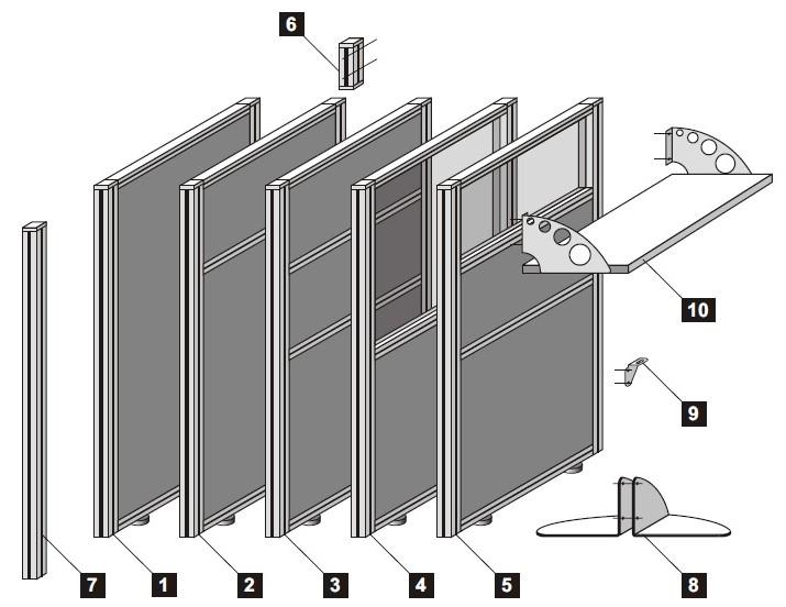 Схема перегородки.